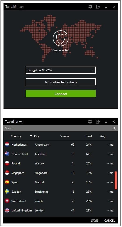 Tweaknews VPN