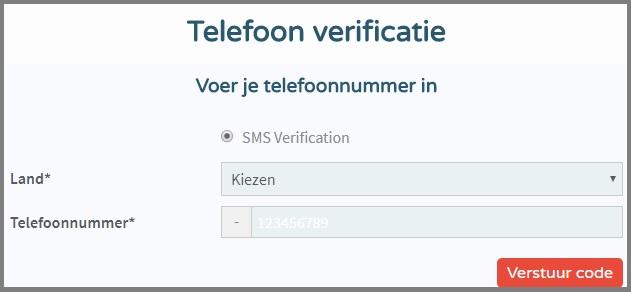 Tweaknews telefoon verificatie